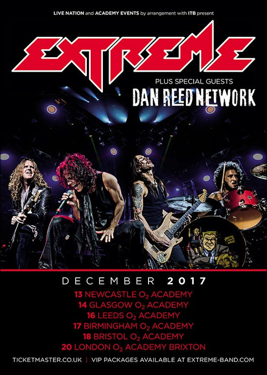 Extreme - Dan Reed Network - 2017 UK Tour