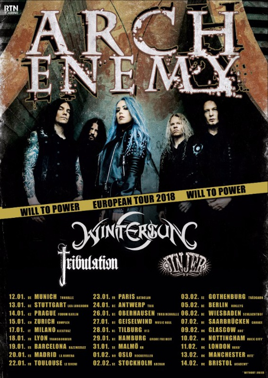 Arch Enemy Wintersun Tour 2018