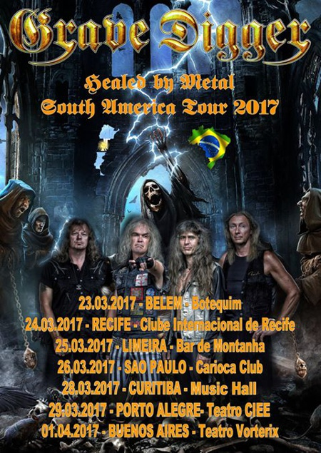 Grave Digger South America Tour 2017